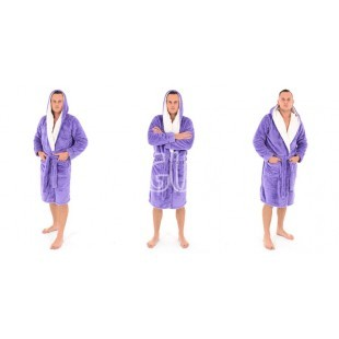 """Vyriškas chalatas """"Jordan Ecru"""" violetinis spalvos"""