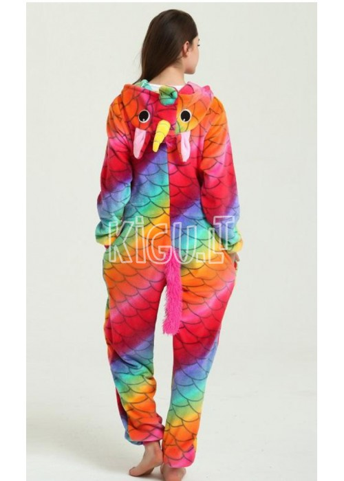 Onesie Kigurumi Unicorn Rainbow Fish