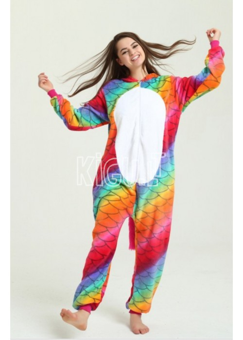Onesie Kigurumi Unicorn Rainbow Dragon