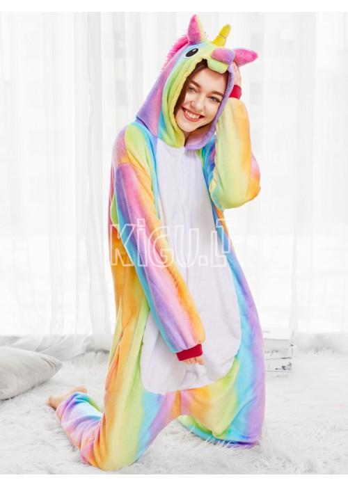 Onesie Kigurumi Vienaragis Rainbow