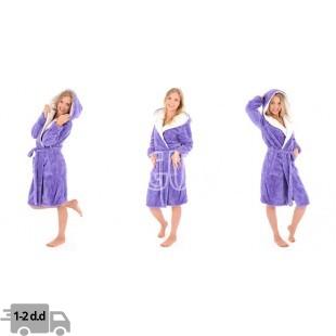 """Moteriškas chalatas """"Jordan Ecru"""" violetinis spalvos"""